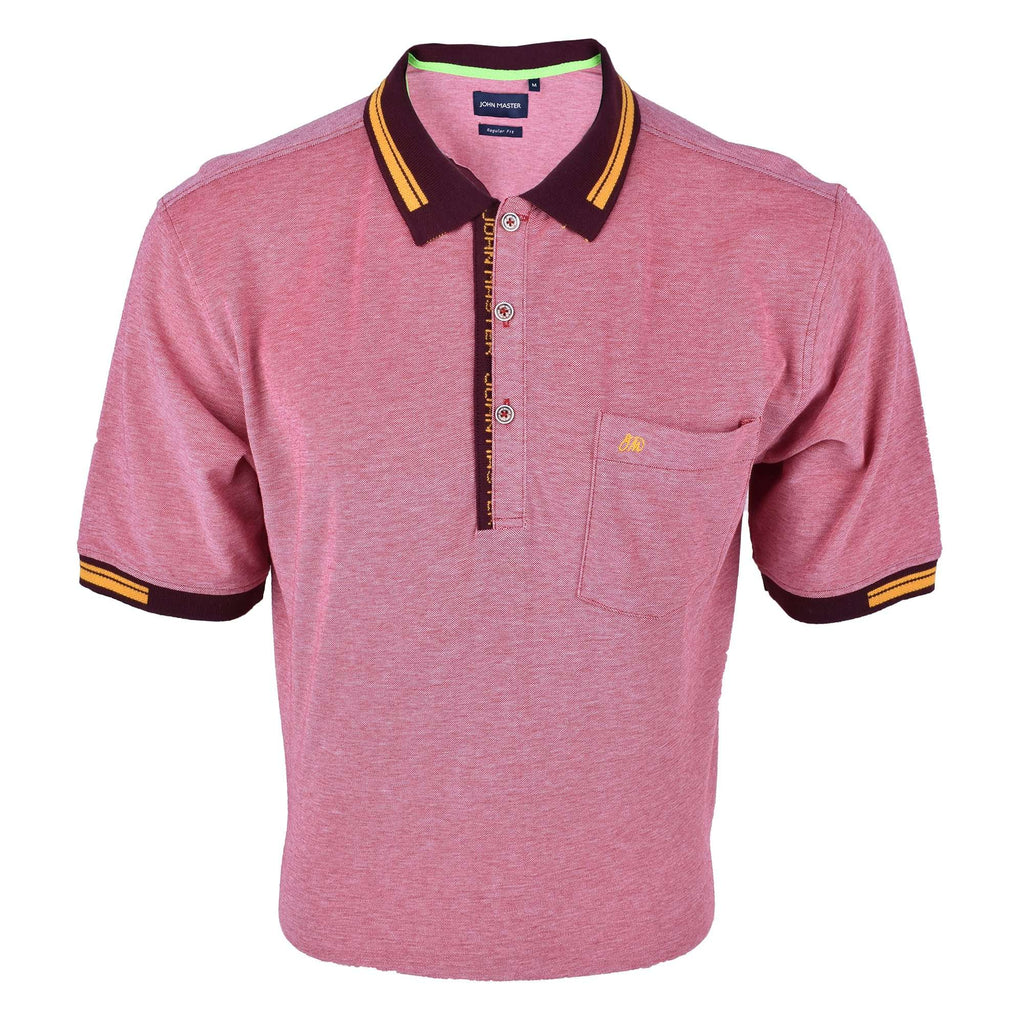 John Master Men Casual Regular Fit Polo Tee Maroon 8008003-R8 : Buy John Master online at CMG.MY