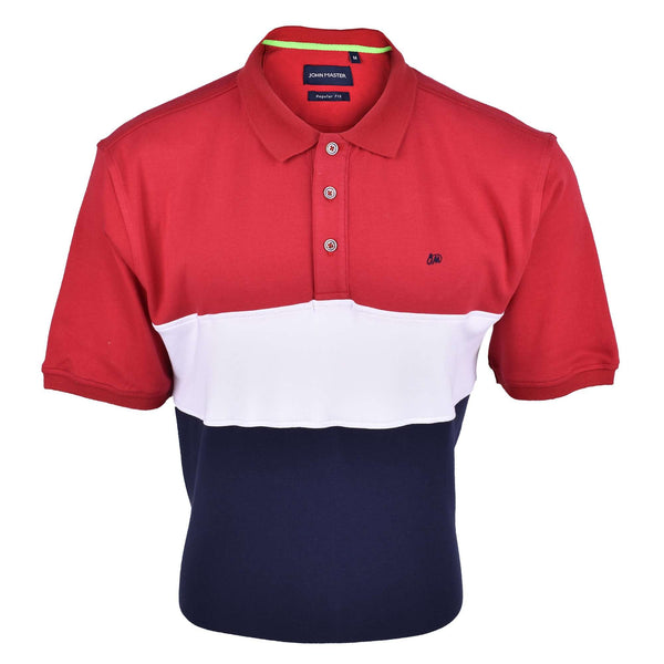 John Master Men Casual Regular Fit Polo Tee Maroon 8068000-R5 : Buy John Master online at CMG.MY