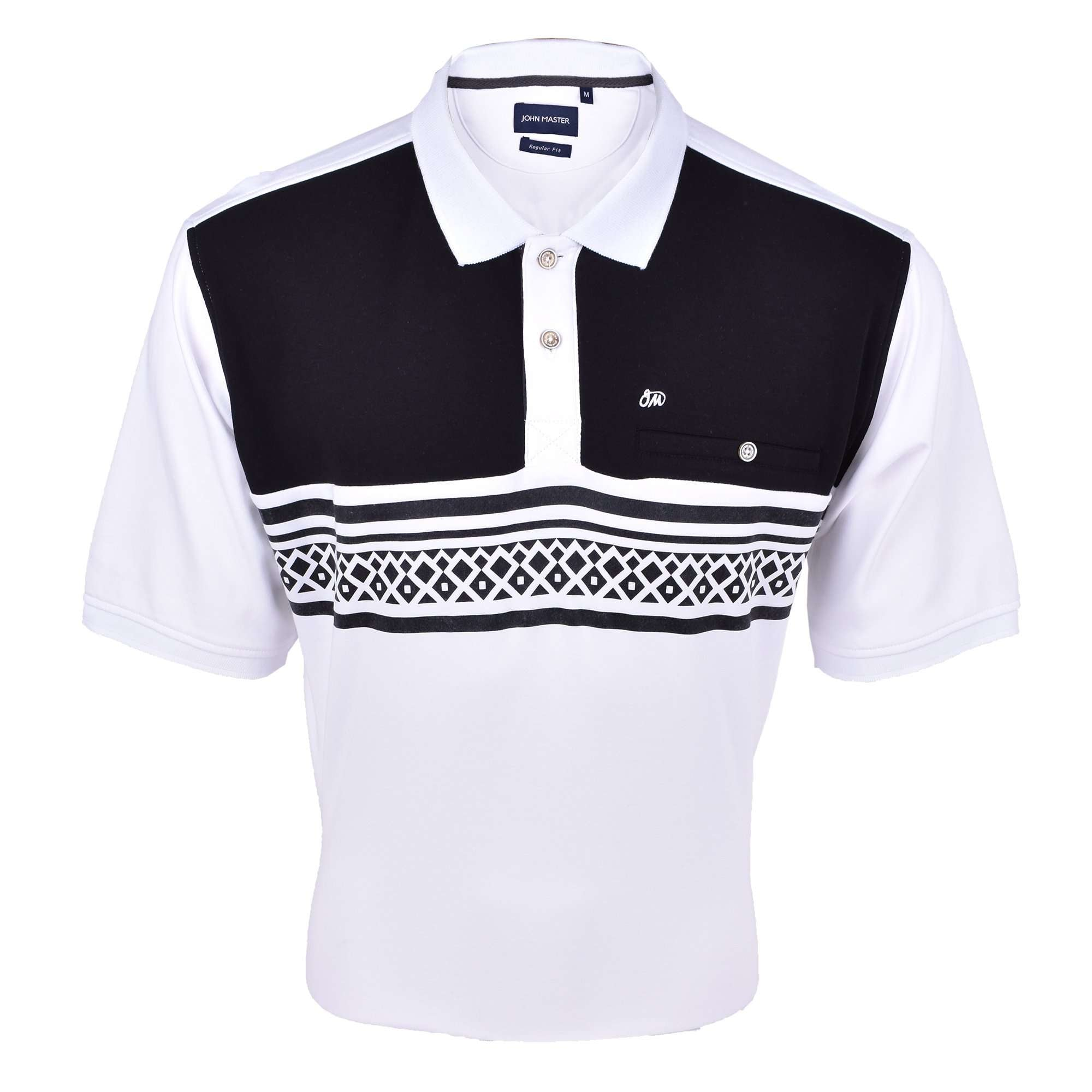 John Master Men Casual Regular Fit Polo Tee White 8008002 : Buy John Master online at CMG.MY