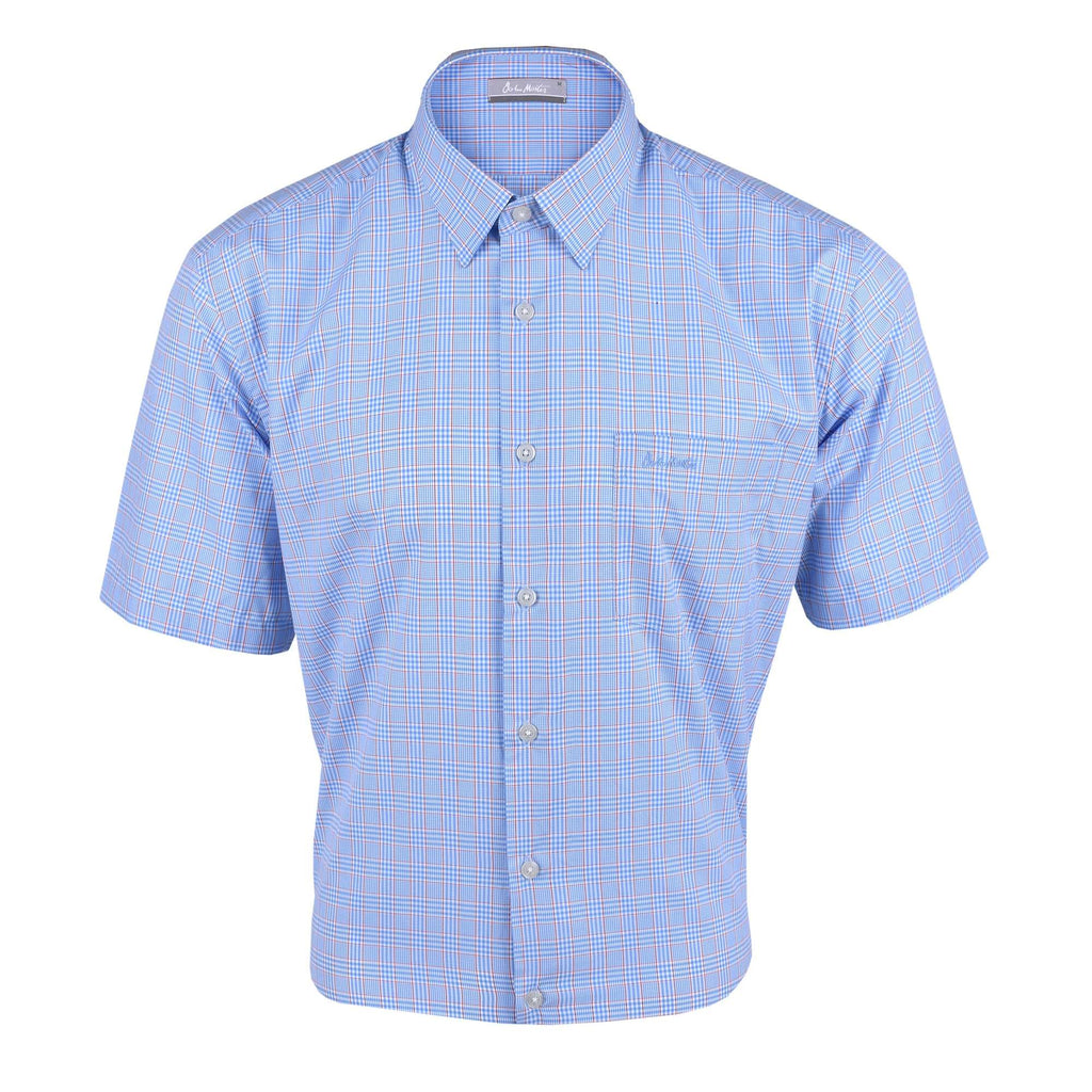 John Master Men Casual Regular Fit Shirt Blue 7147027-L5 : Buy John Master online at CMG.MY