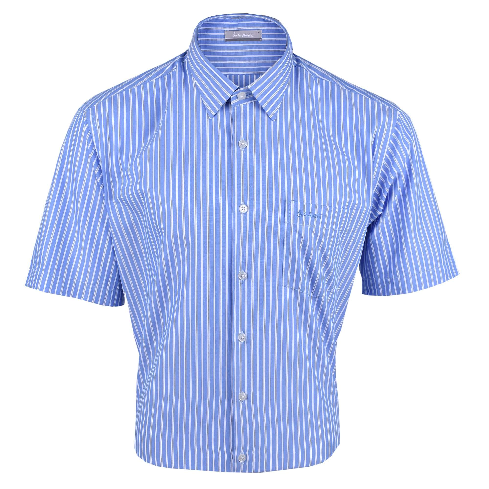 John Master Men Casual Regular Fit Shirt Blue 7147038-L5 : Buy John Master online at CMG.MY