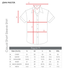 John Master Men Casual Regular Fit Shirt Dark Blue 7147026-L8 : Buy John Master online at CMG.MY