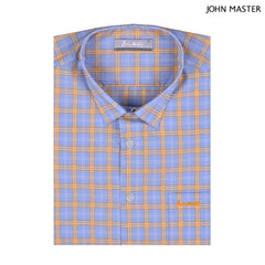 John Master Men Casual Regular Fit Shirt Dark Blue 7147028-L6 : Buy John Master online at CMG.MY
