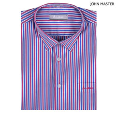 John Master Men Casual Regular Fit Shirt Dark Pink 7147045-P6 : Buy John Master online at CMG.MY