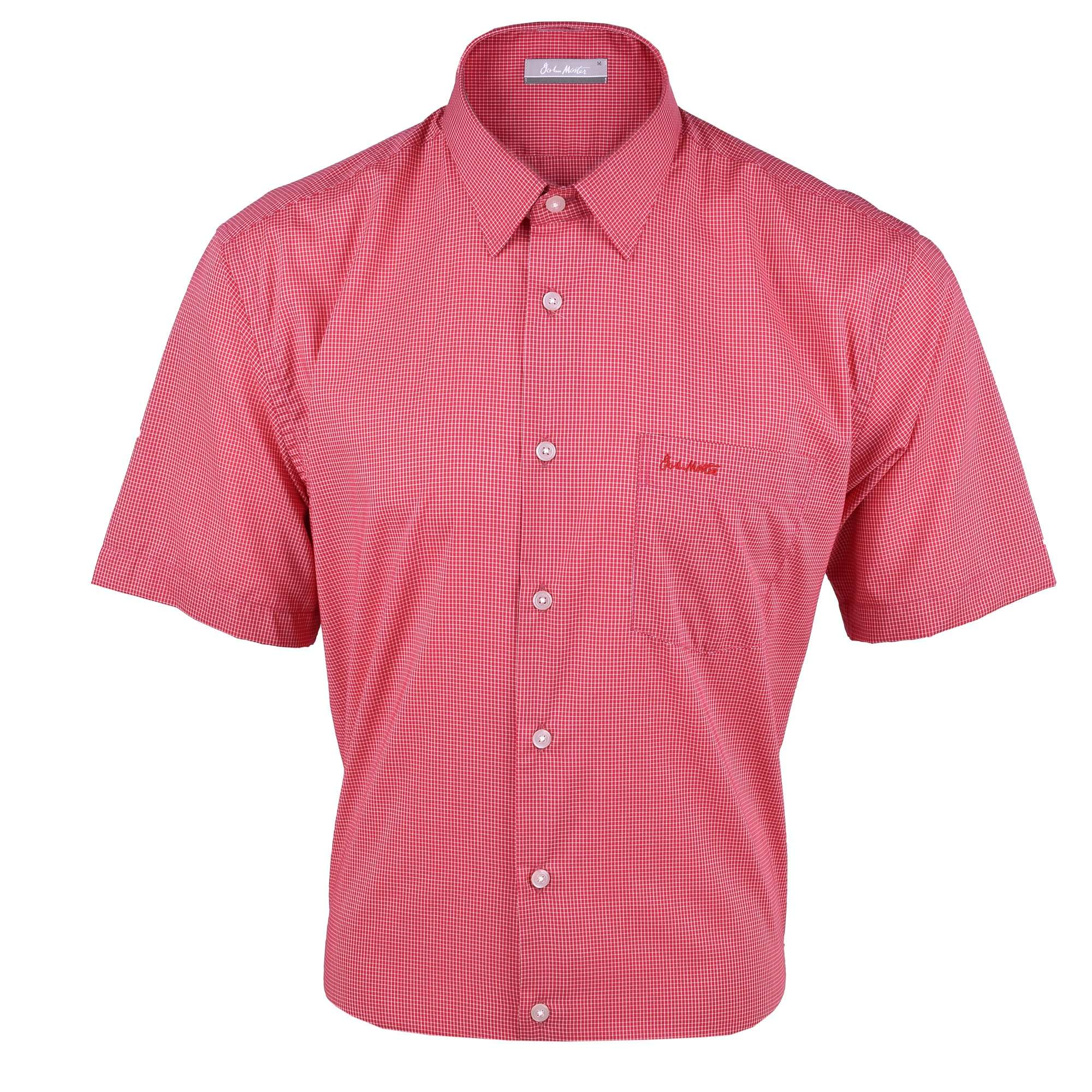 John Master Men Casual Regular Fit Shirt Red 7147034-R5 : Buy John Master online at CMG.MY