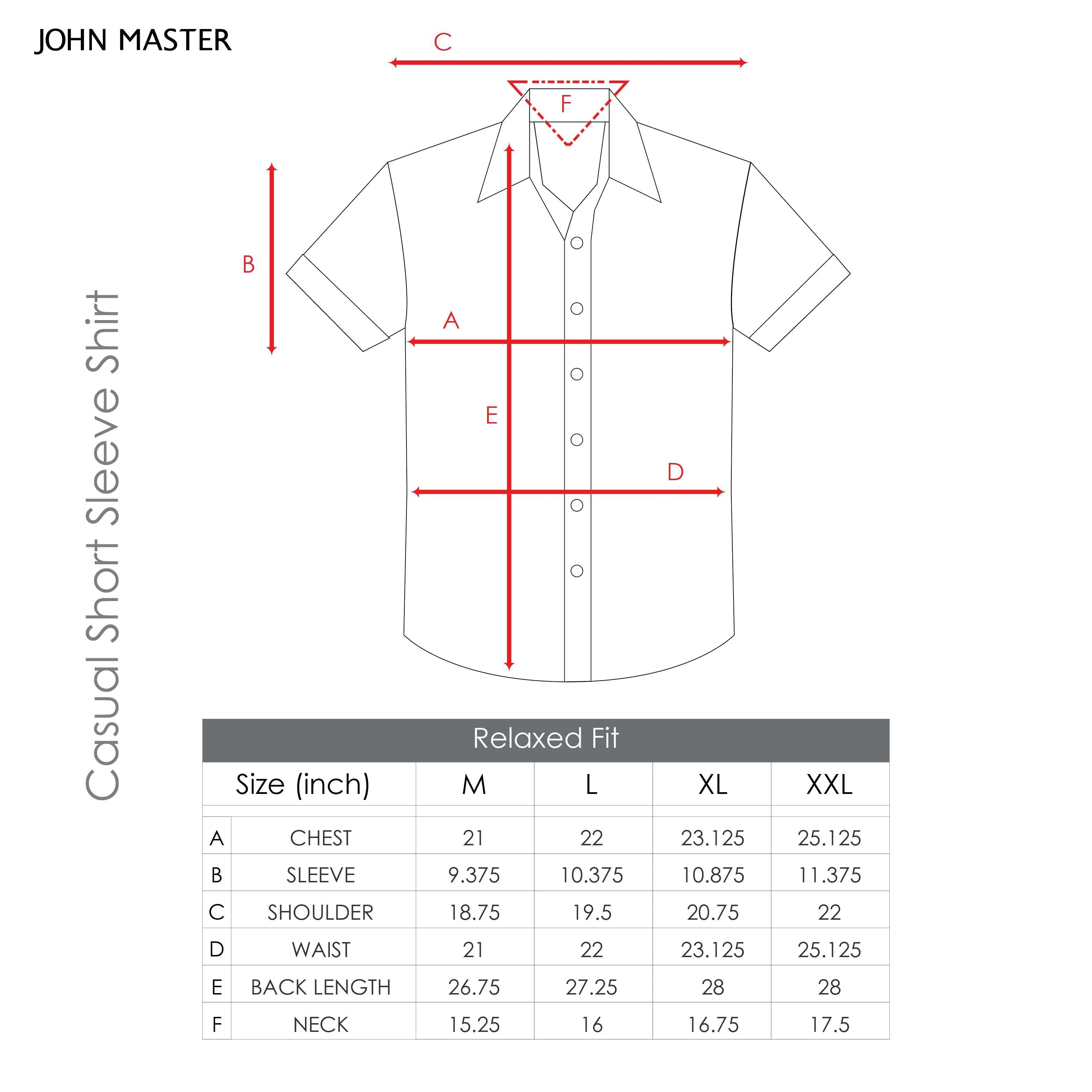 John Master Men Casual Relax Fit Shirt Red 7037006-R1 : Buy John Master online at CMG.MY