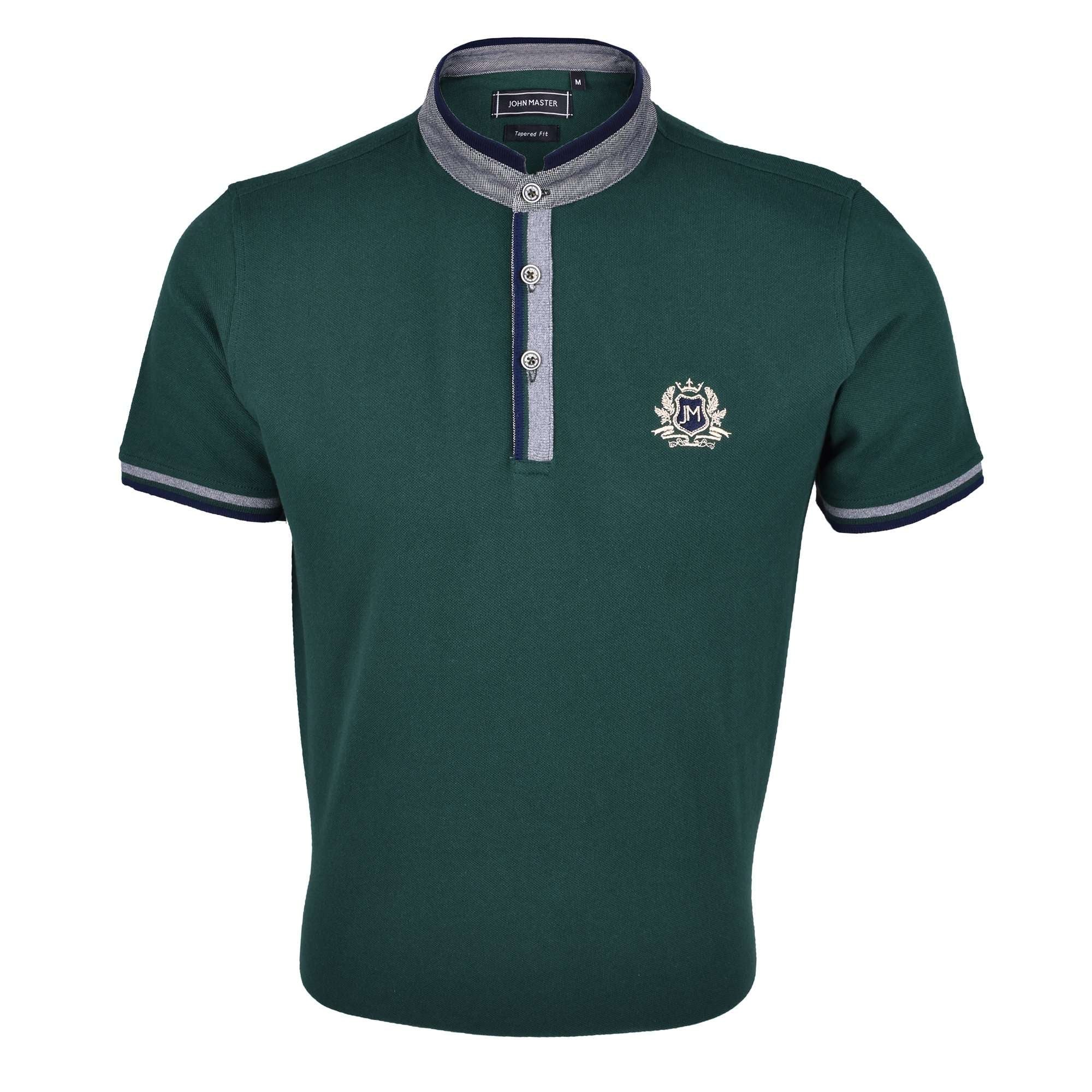 John Master Men Casual Tapered fit Polo Tee Green 8088001-N8 : Buy John Master online at CMG.MY
