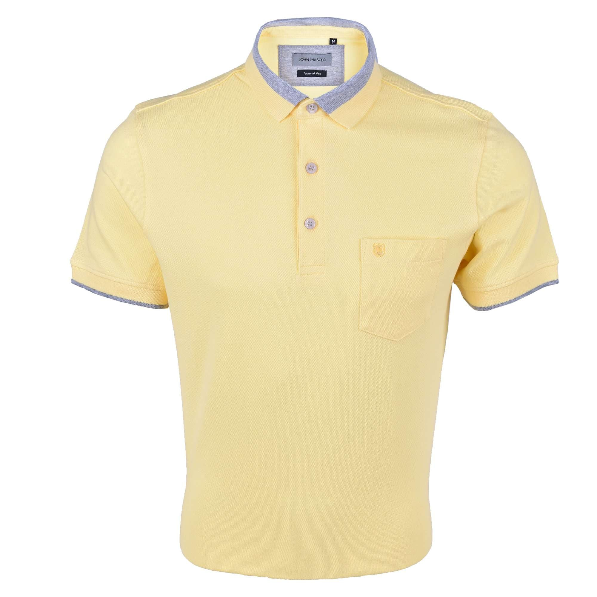 John Master Men Casual Tapered fit Polo Tee Yellow 8287009-Y5 : Buy John Master online at CMG.MY