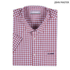 John Master Regular Fit Cotton Short Sleeve Shirt Orange 7147030-E5 : Buy John Master online at CMG.MY