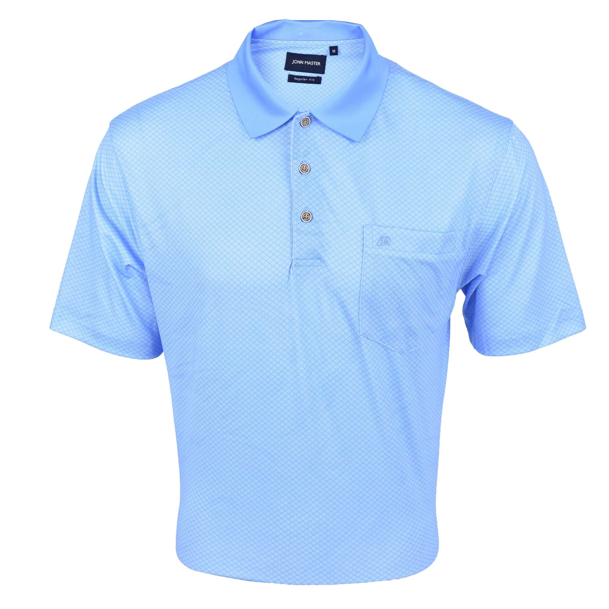 John Master Regular Fit Short Sleeve Polo Tee Blue 8068001-L5 : Buy John Master online at CMG.MY