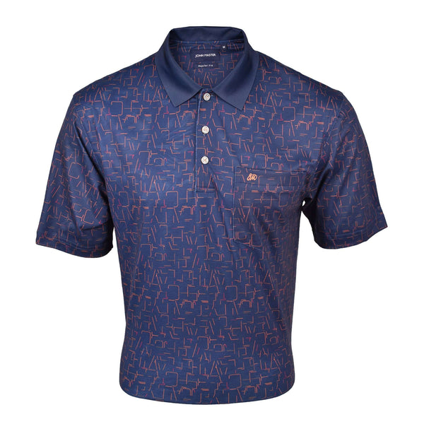 John Master Regular Fit Short Sleeve Polo Tee Navy 8068004-L9 : Buy John Master online at CMG.MY