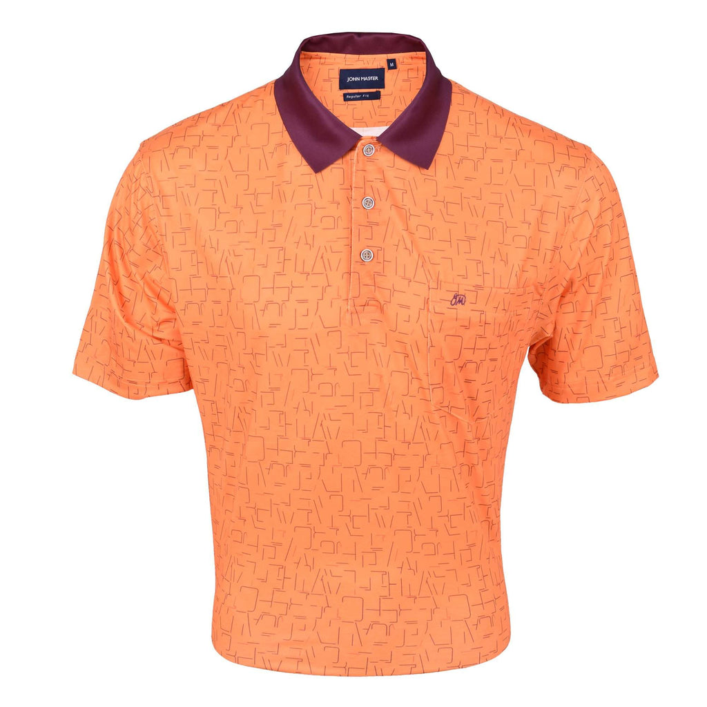 John Master Regular Fit Short Sleeve Polo Tee Orange 8068004-E5 : Buy John Master online at CMG.MY