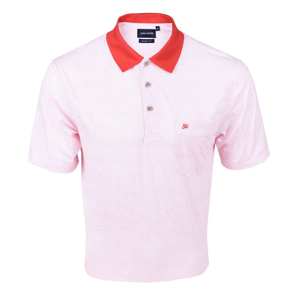 John Master Regular Fit Short Sleeve Polo Tee Red 8068001-R5 : Buy John Master online at CMG.MY