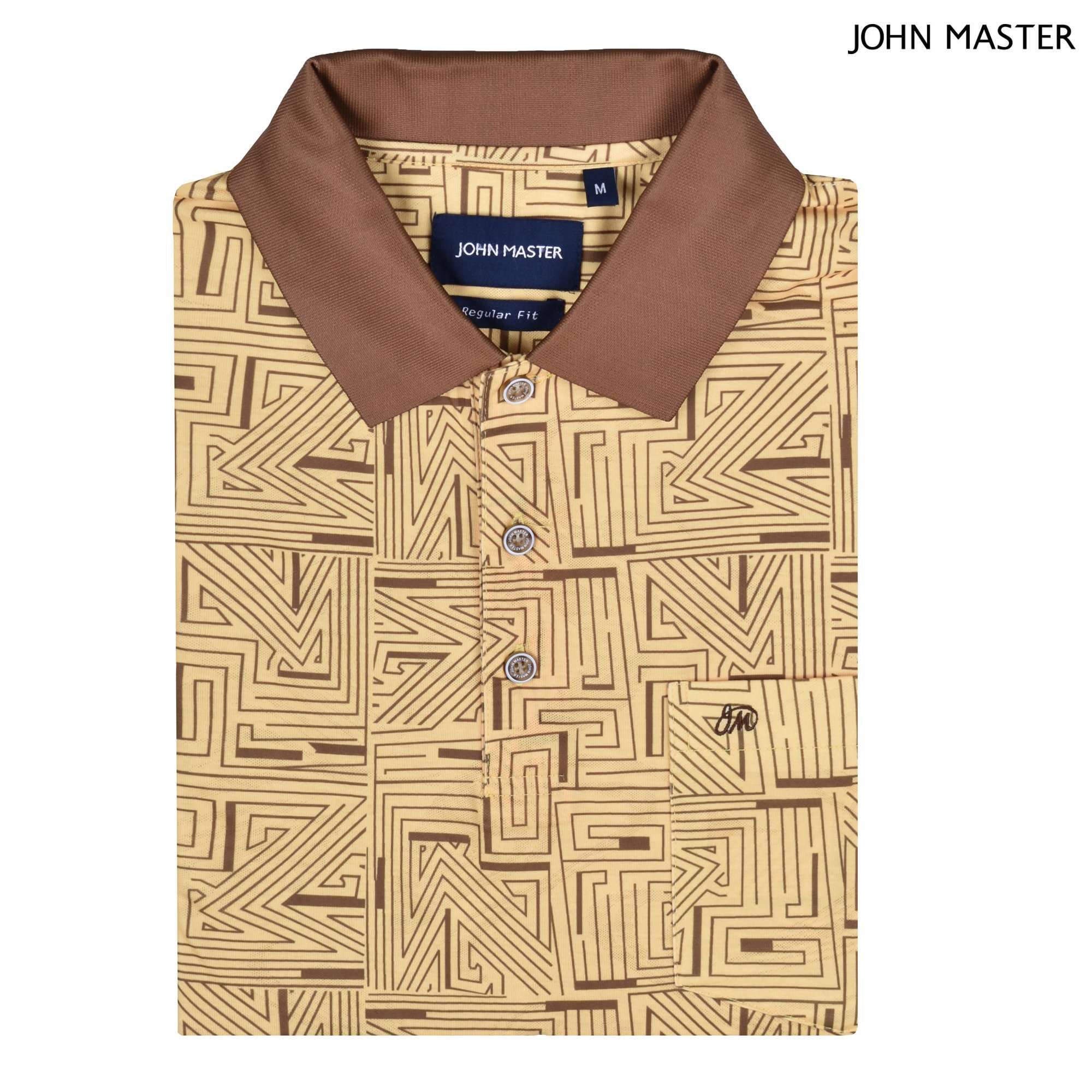 John Master Regular Fit Short Sleeve Polo Tee Yellow 8068002-Y6 : Buy John Master online at CMG.MY