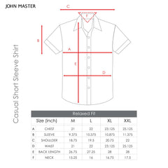John Master Relax Fit Short Sleeve Shirt Blue 7147020-L5 : Buy John Master online at CMG.MY