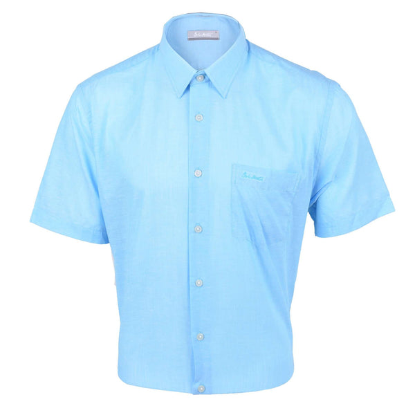 John Master Relax Fit Short Sleeve Shirt Blue 7147044-L5 : Buy John Master online at CMG.MY