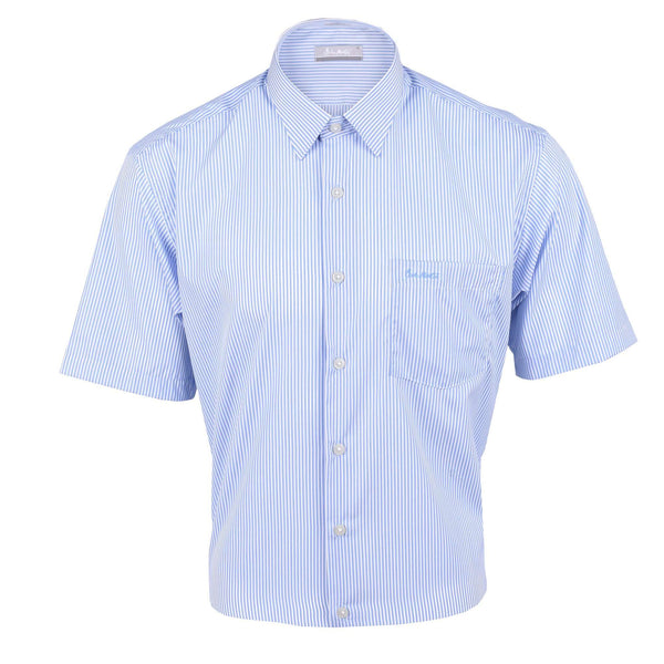 John Master Relax Fit Short Sleeve Shirt Light Blue 7147039-L3 : Buy John Master online at CMG.MY