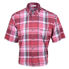 John Master Relax Fit Short Sleeve Shirt Red 7147048-R6 : Buy John Master online at CMG.MY