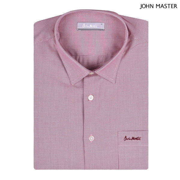 John Master Relax Fit Short Sleeve Shirt Red 7147049-R5 : Buy John Master online at CMG.MY