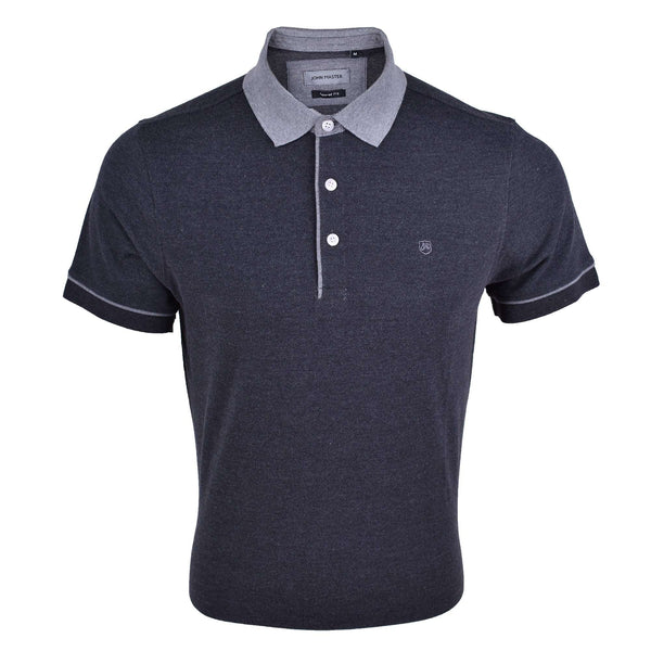 John Master Tapered Fit Cotton Short Sleeve Polo Tee Dark Grey 8287010-G8 : Buy John Master online at CMG.MY