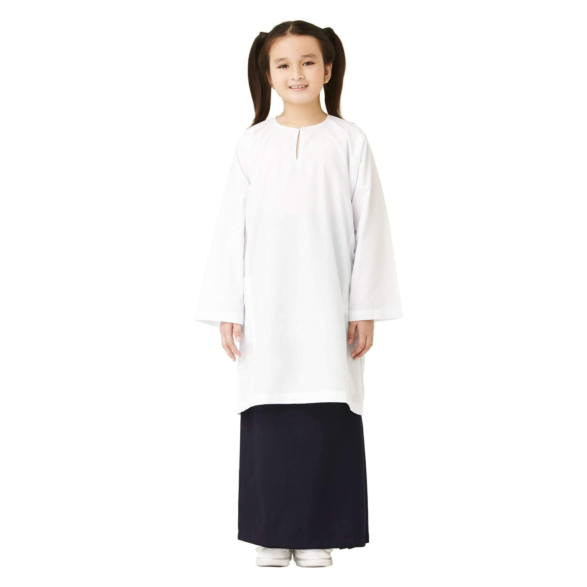 K-Primary Girl Long Sleeve Baju Kurung School Uniform Primary - White 121034-15X : Buy K-Primary online at CMG.MY
