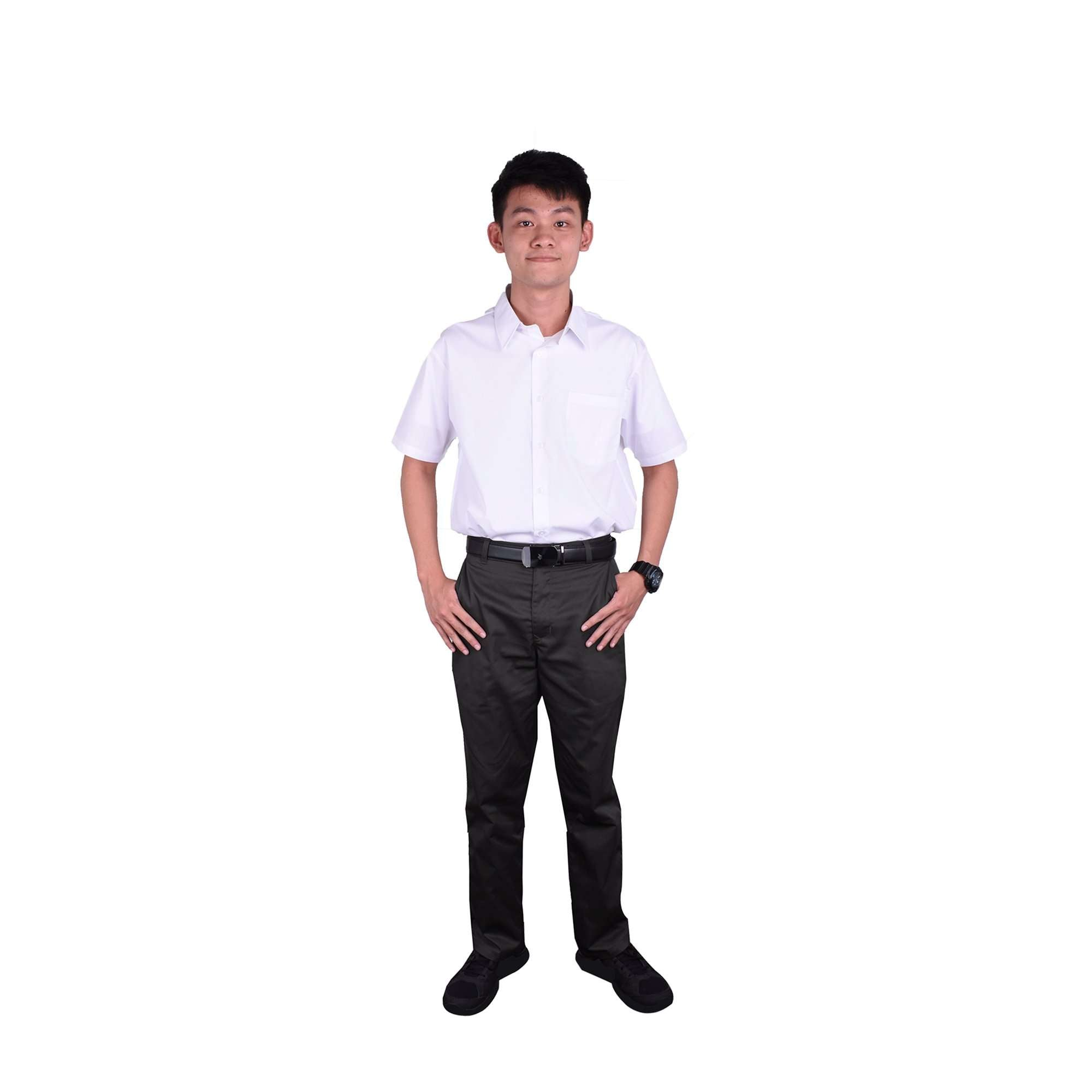 K-SECONDARY BOY SCHOOL UNIFORM Short Sleeve Shirt - WHITE X950109-1401-W0 : Buy K-Secondary online at CMG.MY
