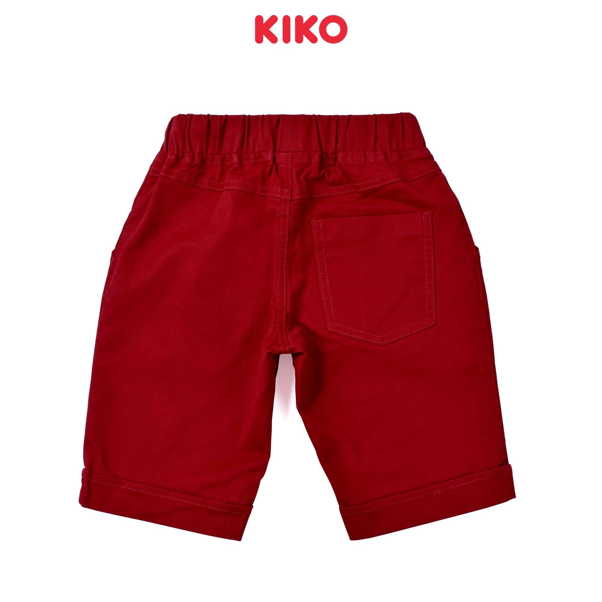 KIKO Boy Cotton Short Pants- Maroon 130115-241 : Buy KIKO online at CMG.MY