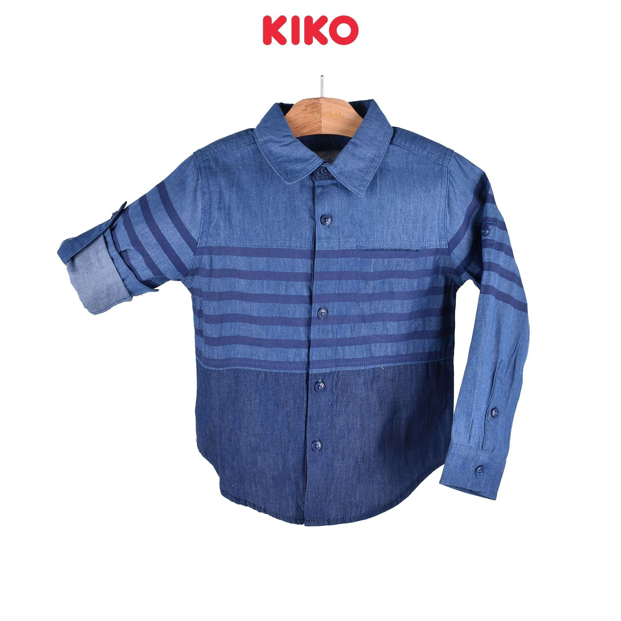 KIKO Boy Long Sleeve Shirt - Blue 110065-153 : Buy KIKO online at CMG.MY