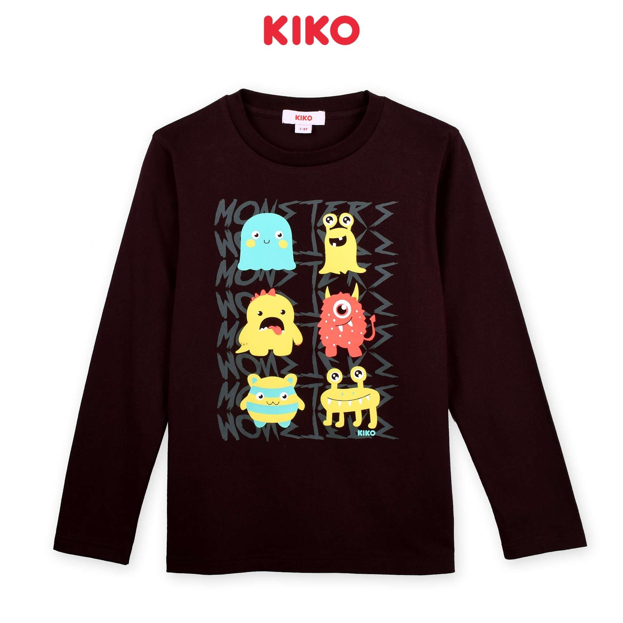 KIKO Boy Long Sleeve Tee - Brown K923103-1321-B5 : Buy KIKO online at CMG.MY