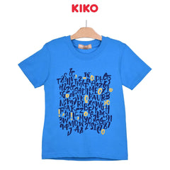 KIKO Boy Round Neck Short Sleeve Tee - Blue 121248-112 : Buy KIKO online at CMG.MY