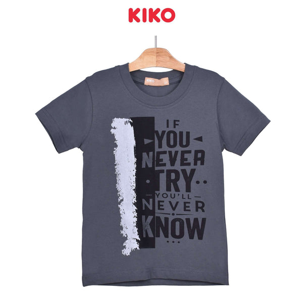 KIKO Boy Round Neck Short Sleeve Tee - Melange 121248-113 : Buy KIKO online at CMG.MY