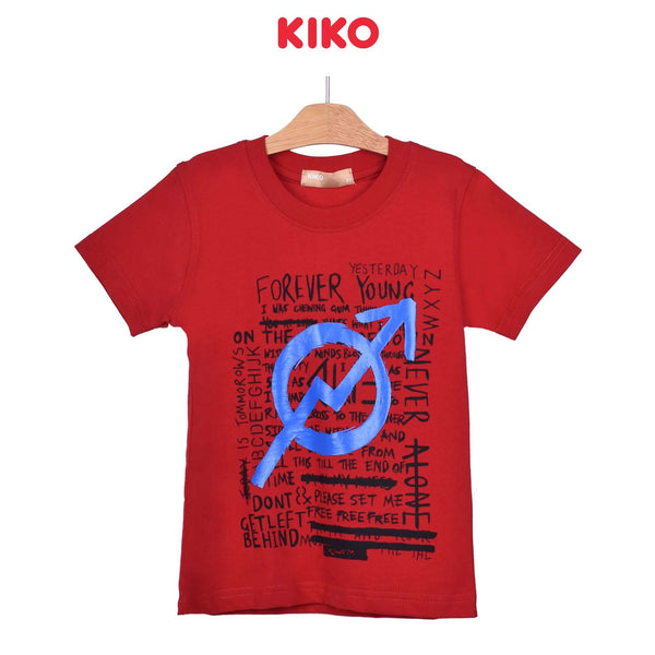 KIKO Boy Round Neck Short Sleeve Tee - Red 121248-114 : Buy KIKO online at CMG.MY