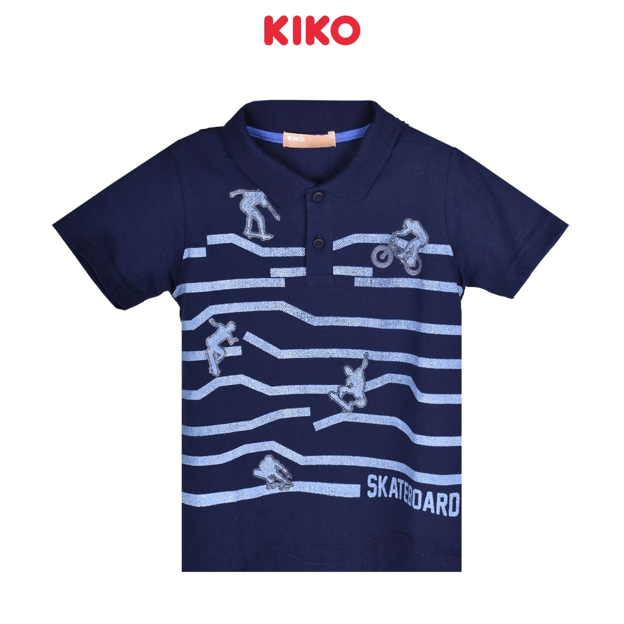 KIKO Boy Short Sleeve Collar Tee 130088-121 : Buy KIKO online at CMG.MY
