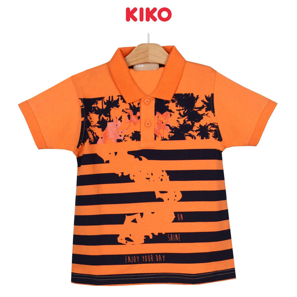 KIKO Boy Short Sleeve Collar Tee - Orange 130094-122 : Buy KIKO online at CMG.MY