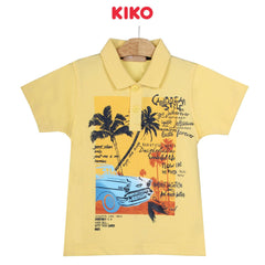KIKO Boy Short Sleeve Collar Tee - Yellow 130094-121 : Buy KIKO online at CMG.MY