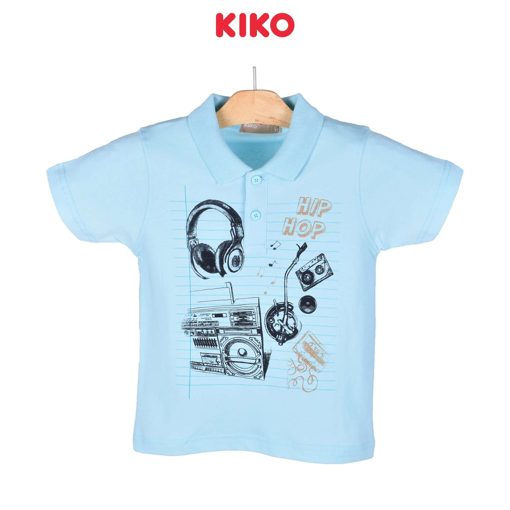 KIKO Boy Short Sleeve Collar Tee 130086-121 : Buy KIKO online at CMG.MY