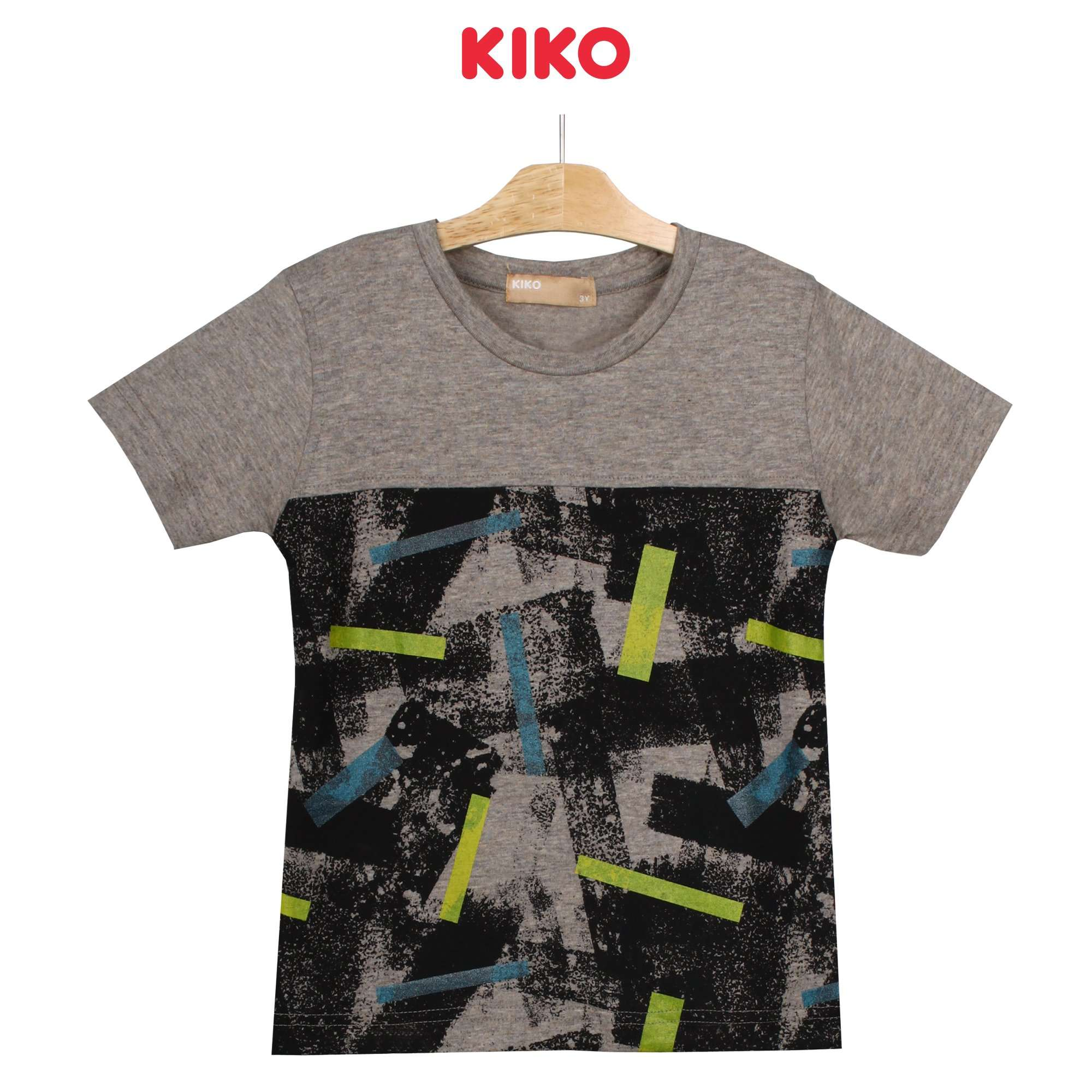 KIKO Boy Short Sleeve Tee - Grey Bleached Sand 130091-111 : Buy KIKO online at CMG.MY