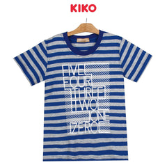 KIKO Boy Short Sleeve Tee - Melange Blue 130100-115 : Buy KIKO online at CMG.MY