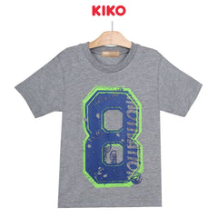 KIKO Boy Short Sleeve Tee - Melange Grey 130090-111 : Buy KIKO online at CMG.MY