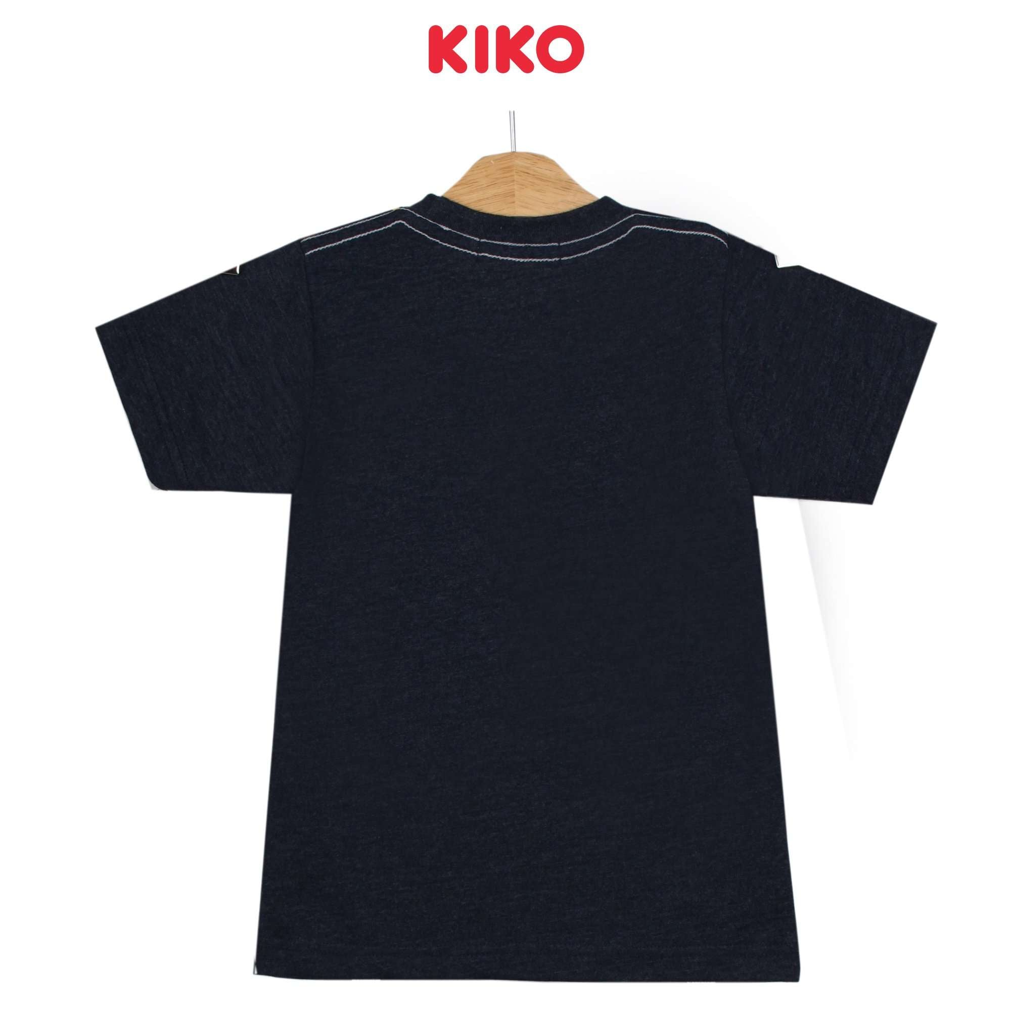 KIKO Boy Short Sleeve Tee - Melange Navy 130090-113 : Buy KIKO online at CMG.MY
