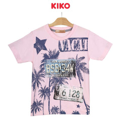 KIKO Boy Short Sleeve Tee - Pink 130094-112 : Buy KIKO online at CMG.MY