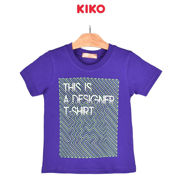 KIKO Boy Short Sleeve Tee - Purple 121250-112 : Buy KIKO online at CMG.MY