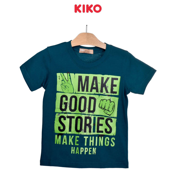 KIKO Boy Short Sleeve Tee- Dark Green 121256-114 : Buy KIKO online at CMG.MY