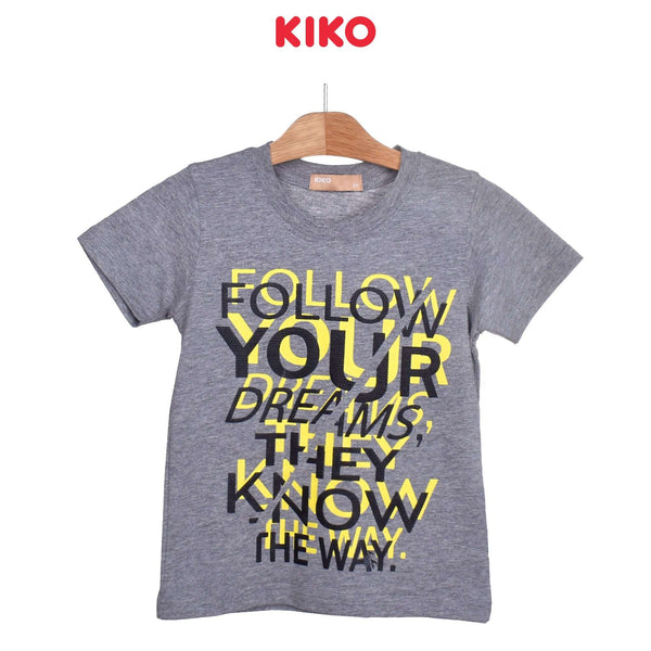 KIKO Boy Short Sleeve Tee- Melange 121258-112 : Buy KIKO online at CMG.MY