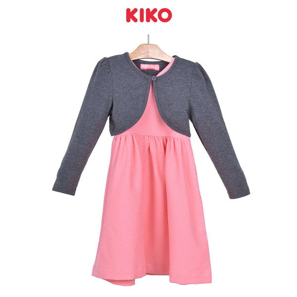 KIKO Girl Dress With Cardigan - Peach 115077-323 : Buy KIKO online at CMG.MY