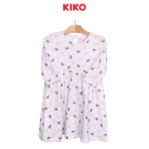 KIKO Girl Knit 3/4 Sleeve Dress-Off White 126096-333 : Buy KIKO online at CMG.MY