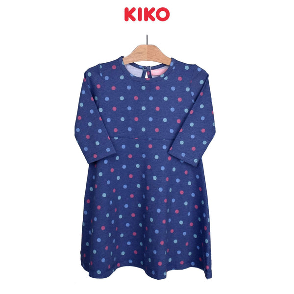 KIKO Girl Knit Long Sleeve Dress-Dark Blue 126095-334 : Buy KIKO online at CMG.MY