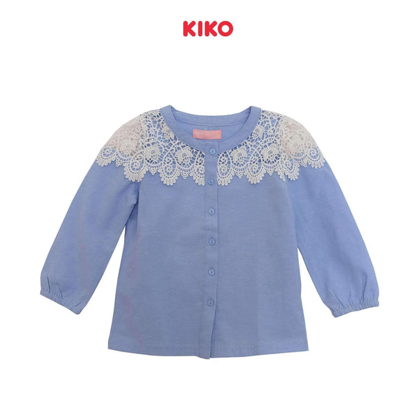 KIKO Girl Long Sleeve Blouse 115025-151 : Buy KIKO online at CMG.MY