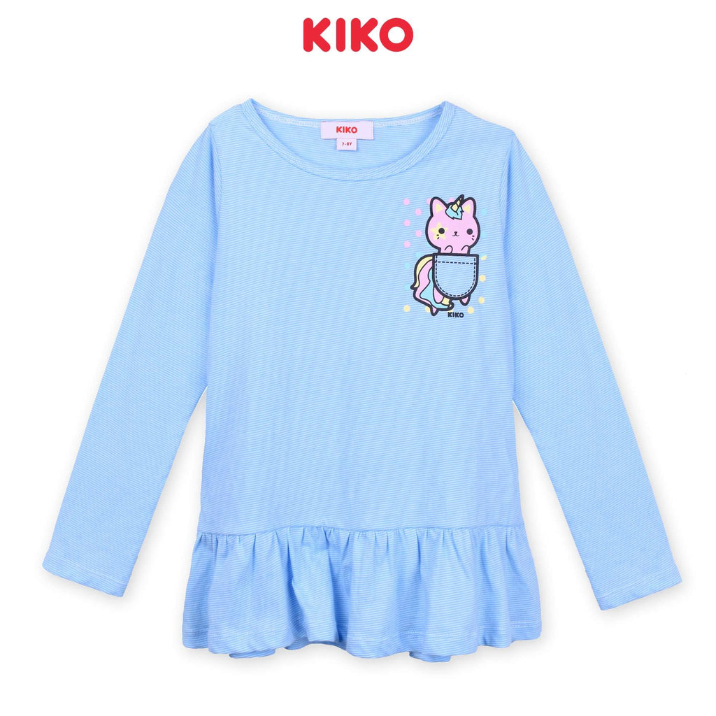 KIKO Girl Long Sleeve Tee - Blue K926103-1344-L5 : Buy KIKO online at CMG.MY