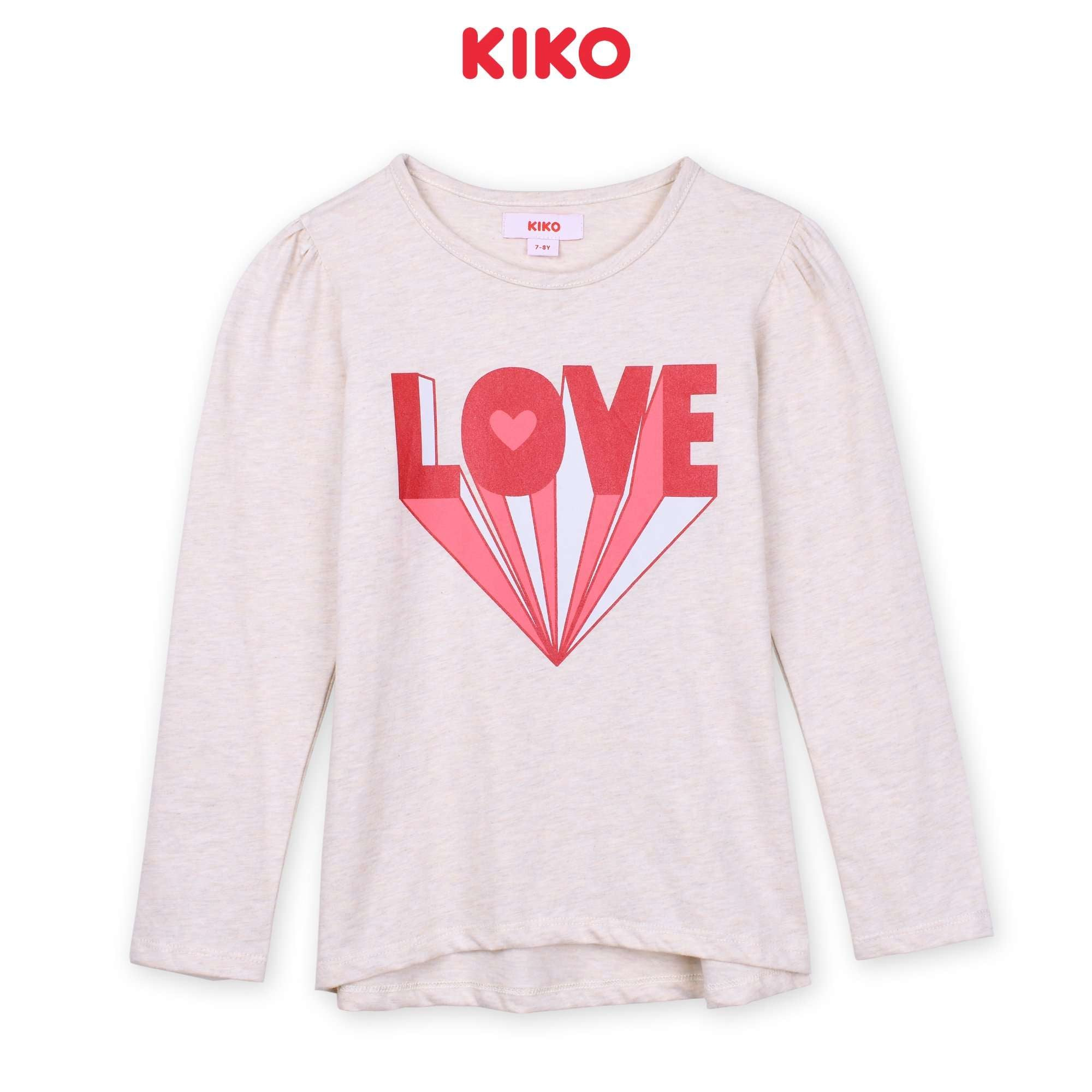 KIKO Girl Long Sleeve Tee - Light Pink K926103-1383-P5 : Buy KIKO online at CMG.MY